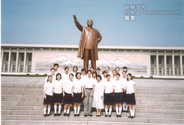 平壌音楽舞踊大学(当時)通信学部の同級生たちと(2001・7)