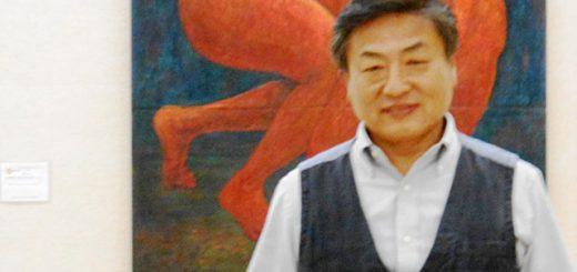 第44回在日朝鮮学生美術展 神戸展会場にて (2015・10・2)