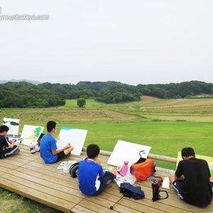 淡路島での制作風景(2015・8)